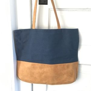 Hearth and Hand leather/canvas tote